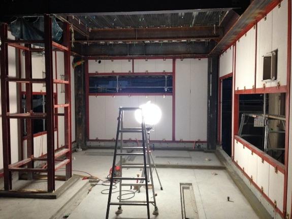 外壁ALCの建て込み完了